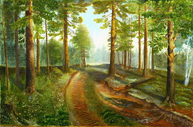 Vasily Zolottsev  'The Wood Road', created in 2003, Original Crafts.