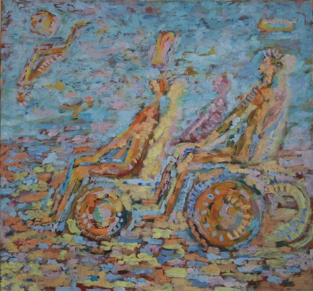 Artist Vasily Tsabadze. 'Drive' Artwork Image, Created in 2006, Original Painting Other. #art #artist