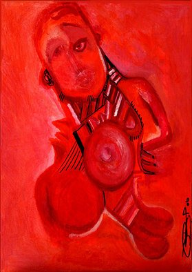 Artist: Vanessa Bernal - Title: Adrogyny - Medium: Acrylic Painting - Year: 2006