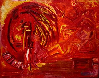 Vanessa Bernal: 'Indio Rojo', 2010 Acrylic Painting, Indiginous.  Abstract Expressionism, Expressionist, Abstract, Modern Art,            ...