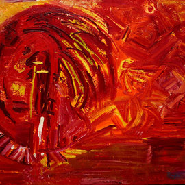 Vanessa Bernal Artwork Indio Rojo, 2010 Acrylic Painting, Indiginous