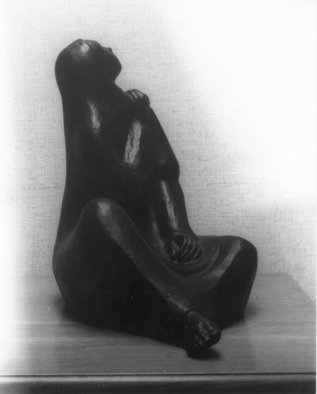 Veronica Brutosky: 'Listening: A Seated Figure', 2008 Other Sculpture, Figurative.  The rhythms in this sculpture from every angle are beautiful. The title: Listening is expressed by the uplifted face. This piece deserves a slowly revolving sculpture stand.  ...