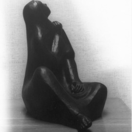 Listening: A Seated Figure By Veronica Brutosky