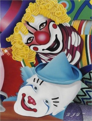 Undefined Medium by Donald Davenport titled: Two Clowns, 2009