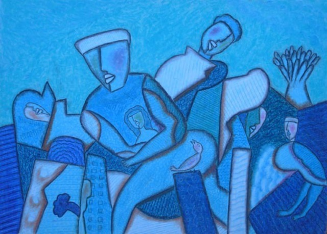 Ved Prakash Bhardwaj  'THE RACE', created in 2010, Original Painting Acrylic.