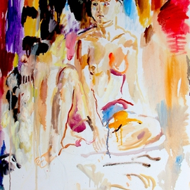 Velemir Pankratov: 'Dreaming', 2011 Oil Painting, Nudes. Artist Description: Young nude girl  ...
