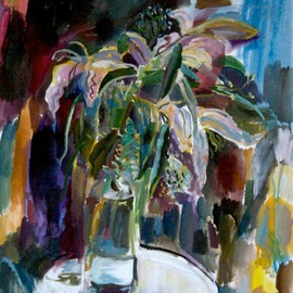 Velemir Pankratov: 'Lilies', 2013 Oil Painting, Floral. Artist Description:  flowers      ...