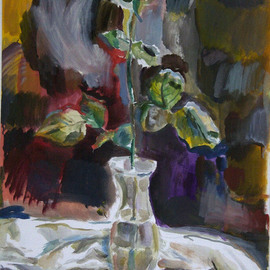 Velemir Pankratov: 'Rose', 2013 Oil Painting, Floral. Artist Description:   Rose flower Blume   ...