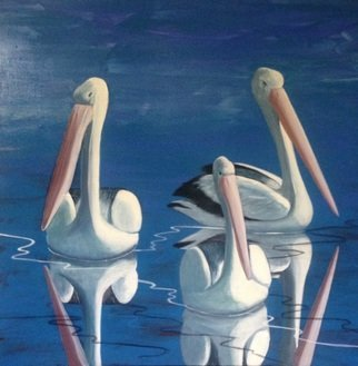 Victoria Velozo: 'all for one', 2017 Oil Painting, Beach. Artist Description: Victoria Velozocontemporary art  oil paint on canvaspelicanbirds nature...