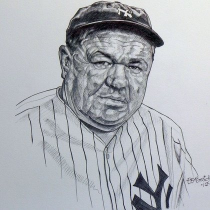 , Babe Ruth, Portrait, Request Price