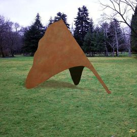 Venelin Ivanov: 'Ginko', 2002 Steel Sculpture, Landscape. Artist Description: painted steel...