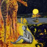 Giraffe and lady By Sergey Lutsenko