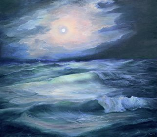 Sergey Lutsenko Artwork Moonlight, 2016 Oil Painting, Seascape