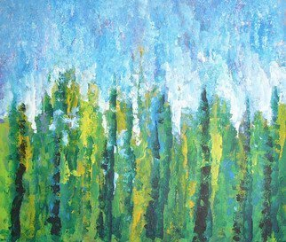 Artist: Valerie Leri - Title: Poplar Trees - Medium: Acrylic Painting - Year: 2010