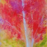 birch tree in fall By Valerie Leri