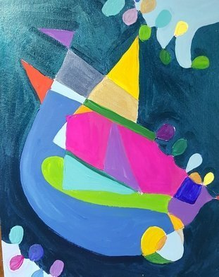 Valerie Leri: 'birthday celebration', 2017 Acrylic Painting, Abstract. Artist Description: Original painting unframed. ...