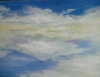 Valerie Leri: 'pastel skies', 2016 Acrylic Painting, Clouds. Artist Description: Original painting with no frame. ...