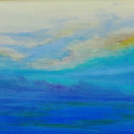Valerie Leri: 'skies of nantucket sound', 2016 Acrylic Painting, Clouds.