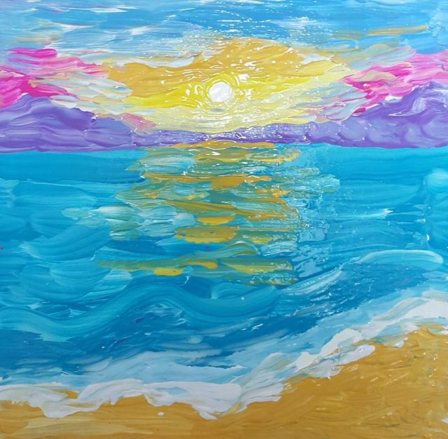 Valerie Leri sun over water 2017
