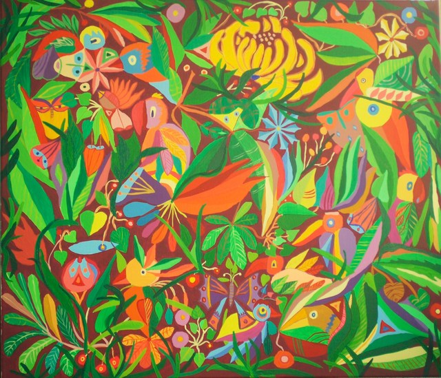 Mimi Revencu  'Jungle 2', created in 2010, Original Mixed Media.