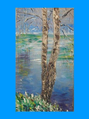 Artist: Victor Kozlov - Title: Birch - Medium: Acrylic Painting - Year: 1999
