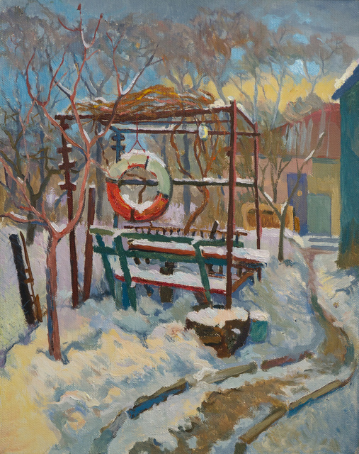 Victor Onyshchenko  'Arbour', created in 2017, Original Painting Oil.