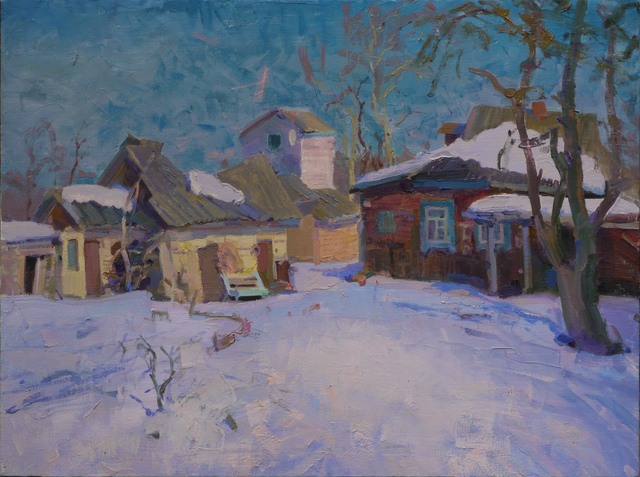 Victor Onyshchenko  'March Snow', created in 2018, Original Painting Oil.
