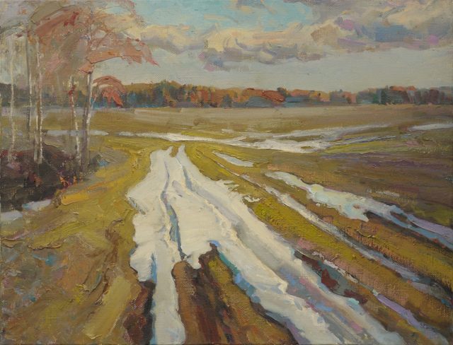 Victor Onyshchenko  'The Last Snow', created in 2017, Original Painting Oil.