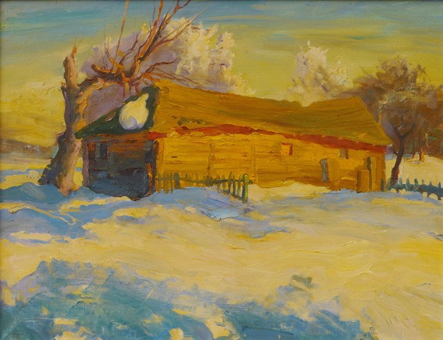 Victor Onyshchenko  'Winter In Kostobobrov', created in 2013, Original Painting Oil.