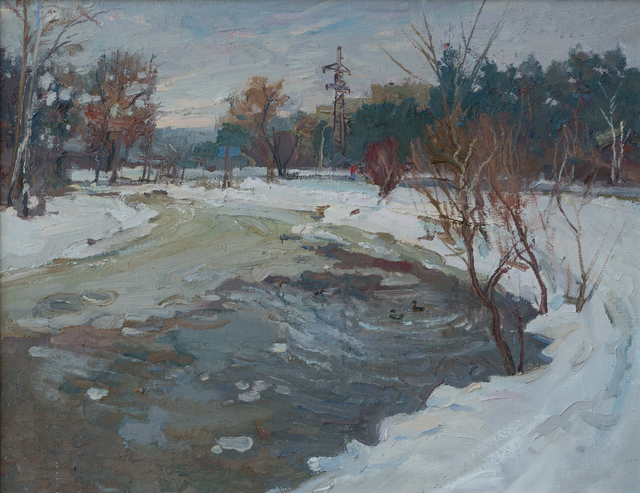 Victor Onyshchenko  'Winter In The Park', created in 2012, Original Painting Oil.