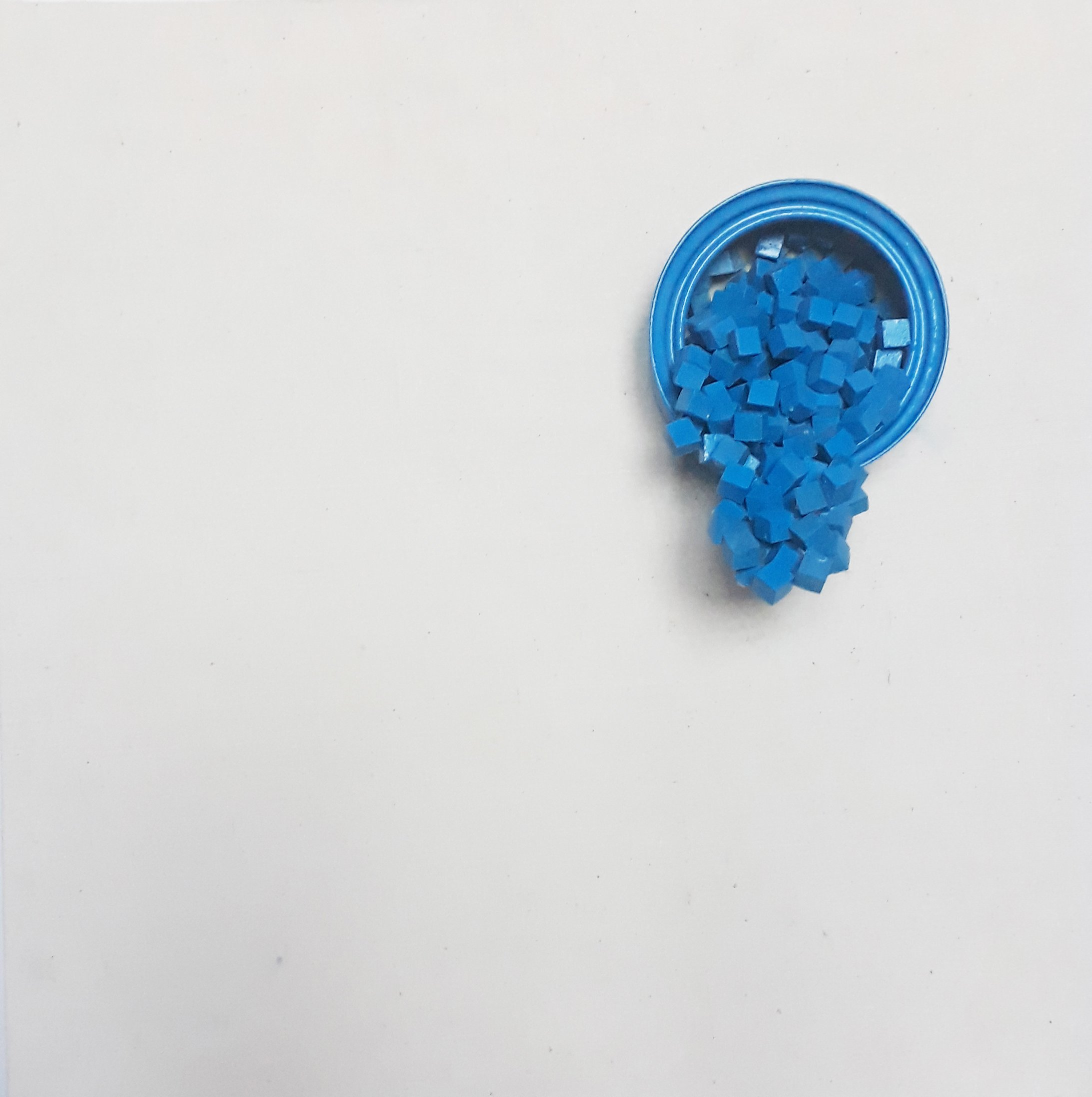 Amin Moradi: 'blue no2', 2014 Mixed Media Sculpture, . Artist Description: unfeelingimagination...
