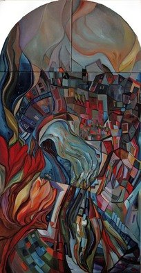 Vilma Maiocco Artwork DENTROilBLU, 2012 Oil Painting, Abstract Landscape