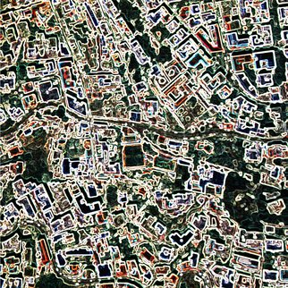 Vincenzo Montella: 'Maps 11', 2009 Other Printmaking, Maps.  inkjet print on pvc ...