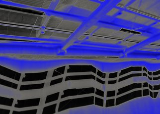 Vincenzo Montella: 'blu parking', 2011 Color Photograph, Inspirational.  print on plexiglas ...