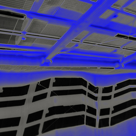 Vincenzo Montella: 'blu parking', 2011 Color Photograph, Inspirational. Artist Description:  print on plexiglas ...