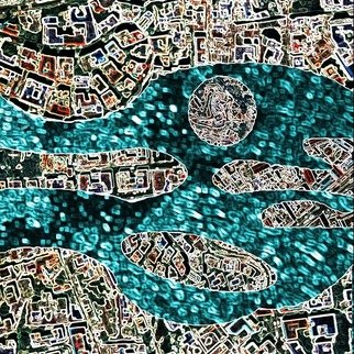 Vincenzo Montella: 'maps 1', 2009 Other Printmaking, Maps.  print on pvc ...