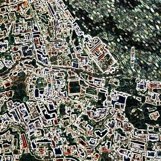 Vincenzo Montella: 'maps 3', 2009 Other Printmaking, Maps.  print on pvc ...
