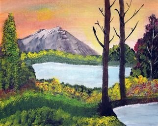 Landscape Acrylic Painting by Diane Carrigan Title: Twin Lakes, created in 2007