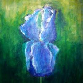 S. Kay: 'Iris Dream', 2012 Acrylic Painting, Floral.