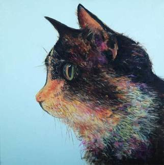 John Tooma: 'Cat 1', 2015 Oil Painting, Cats. Artist Description:  This is my first panel of the Cat series, I am building a collection of Cats and Dogs to show one day. ...