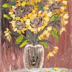 sunflowers in vase By Vitaliy Bilichenko