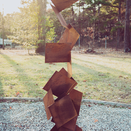 Vadim Kharchenko: 'otto cor-ten', 2017 Steel Sculpture, Abstract. Artist Description: Sculpture: Metal and Steel on Steel.- Free Standing Abstract modern rusted patina corten steel sculpture, named OttoaEUR, will complement contemporary, modern, or traditional house Indoor or Outdoor. Will fit great as a garden sculpture, lawn sculpture, driveway or front entrance accent, yard dA(c)cor, and will complement any ...