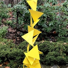 Vadim Kharchenko: 'trougao', 2017 Steel Sculpture, Abstract. Artist Description: Sculpture: Metal and Steel on Steel.Beautiful Mid Century Modern Outdoor Indoor Triangle Sculpture named aEURoeTrougaoaEUR- Free Standing Abstract modern powder coated steel sculpture, will complement contemporary, modern, or traditional house Indoor or Outdoor. Will fit great as a garden sculpture, lawn sculpture, driveway or front entrance accent, ...
