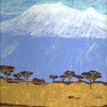Mountain And Sand Kilimanjaro By Donald Herrick