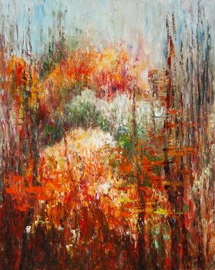Artist: Vladimir Volosov - Title: Colors of Autumn Forest - Medium: Oil Painting - Year: 2013