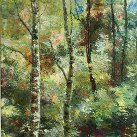Vladimir Volosov Artwork Forest Joy, 1995 Oil Painting, Landscape