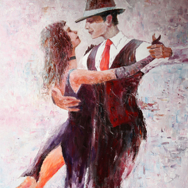 Vladimir Volosov Artwork Tango, 2014 Oil Painting, Nudes