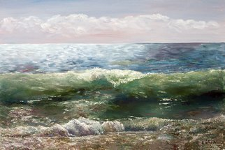 Vladimir Volosov: 'atlantic ocean', 2012 Oil Painting, Marine. Artist Description: This is an original unique textured oil painting on stretched canvas. Original Artist Style aEUR