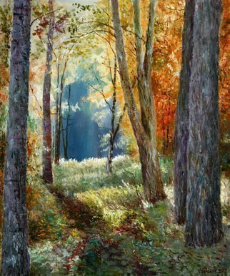 Vladimir Volosov: 'autumn morning', 2015 Oil Painting, Landscape. Artist Description: This is an original unique textured oil painting on stretched canvas. Original Artist Style aEUR