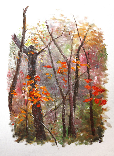 Vladimir Volosov: autumn soon, 2011 Oil Painting